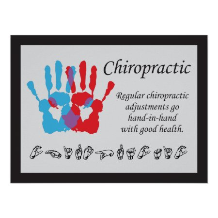 Chiropractic Adjustments Sign Language Poster