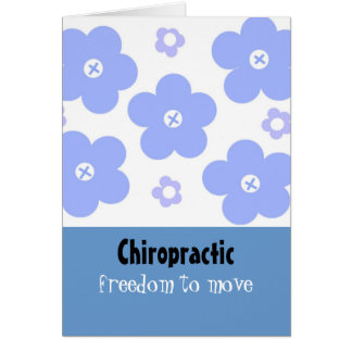 Chiropractic Blue Floral Design Card