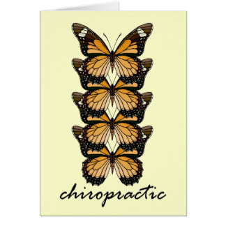 Chiropractic Butterflies Stationery Note Card