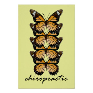 Chiropractic Butterflies Small Poster
