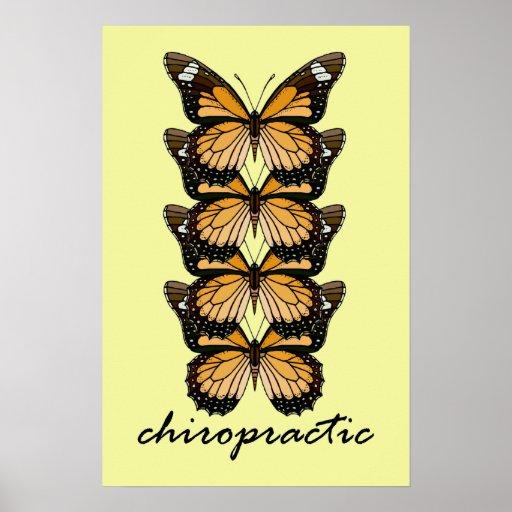 Chiropractic Butterflies Small Poster
