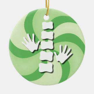 Chiropractic Candy Christmas Ornament