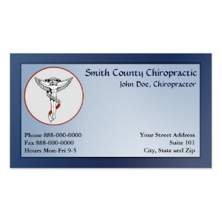 Chiropractic Chiropractor Business Card