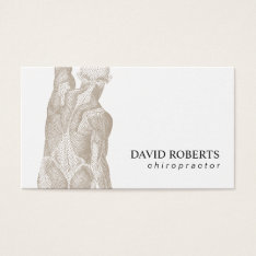 Chiropractic Chiropractor Massage Therapy Business Card at Zazzle