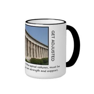 Chiropractic Coffee Mug (color) Greek Columns
