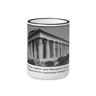 Chiropractic Coffee Mug - Greek Columns