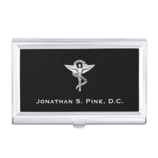 Chiropractic Emblem Business Card Holder