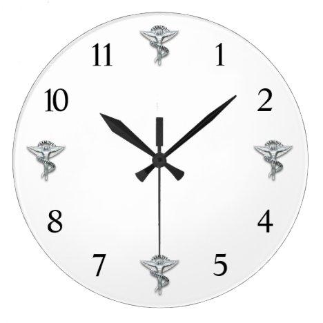 Chiropractic Emblem Chiropractor Large Clock