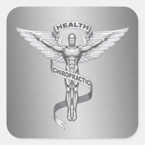 Chiropractic Emblem Logo Stickers
