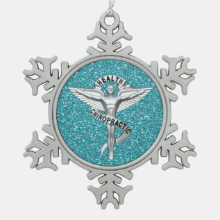 Chiropractic Emblem Pewter Snowflake Ornament at Zazzle