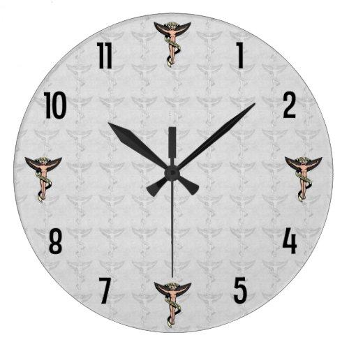 Chiropractic Emblem Wall Clock