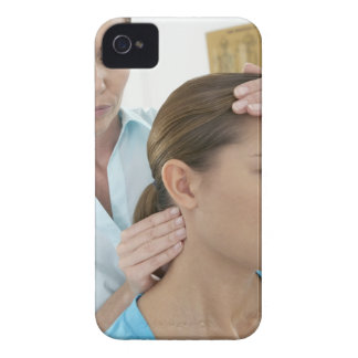 Chiropractic examination of the neck. The Case-Mate iPhone 4 Case