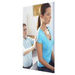 Chiropractic examination of the thoracic spine. stretched canvas print