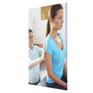 Chiropractic examination of the thoracic spine. canvas print