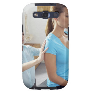 Chiropractic examination of the thoracic spine. galaxy SIII cases