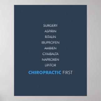 Chiropractic first poster - dark blue