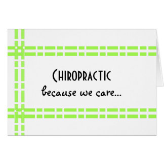Chiropractic Green Link Design Card