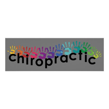 Chiropractic Hand Prints Poster 36x12