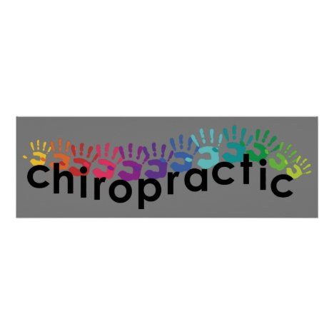 Chiropractic Hand Prints Poster 36x12
