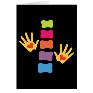 Chiropractic Hands and Spine Blank Card