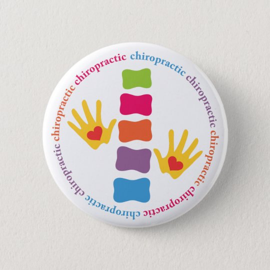 Chiropractic Hands and Spine Button