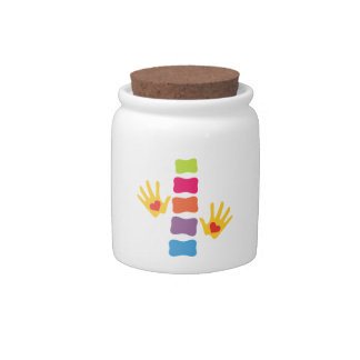 Chiropractic Hands and Spine Candy Jar