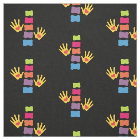 Chiropractic Hands and Spine Fabric