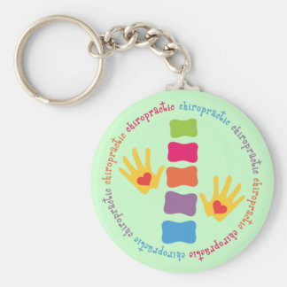 Chiropractic Hands and Spine Keychain