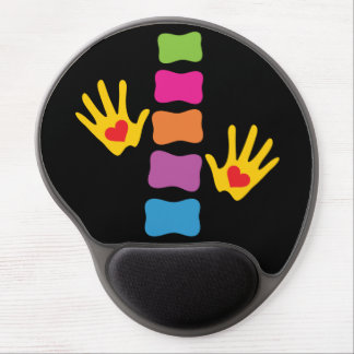 Chiropractic Hands and Spine Logo Gel Mousepad