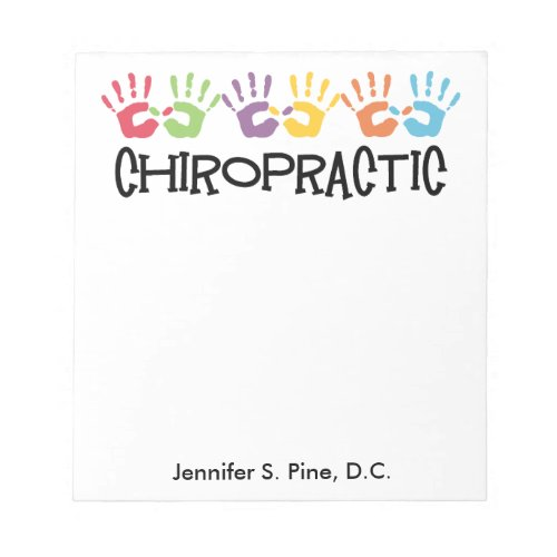 Chiropractic Hands Personalized Notepad