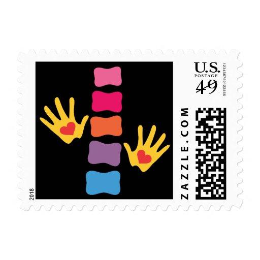 Chiropractic Hands & Spine Postage