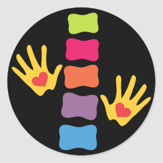 Chiropractic Hands & Spine Sticker
