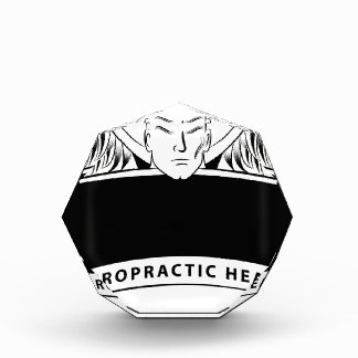 Chiropractic Health Angel Sign Symbol Acrylic Award