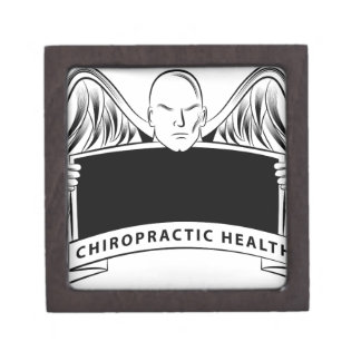 Chiropractic Health Angel Sign Symbol Jewelry Box