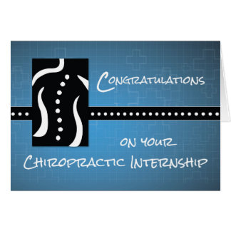 Chiropractic Internship Congratulations, Black and Card