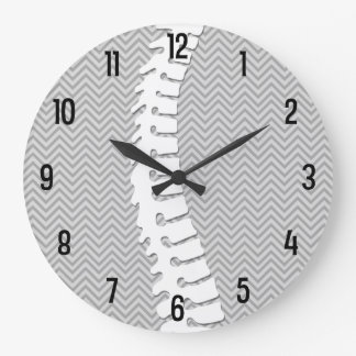 Chiropractic Lateral Spine Logo Wall Clock