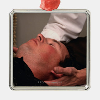 Chiropractic Manipulation Metal Ornament