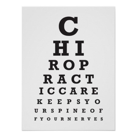 Chiropractic Message 1 Eye Chart Poster