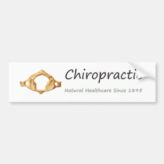 Chiropractic Natural Healthcare Since 1895 Car Bumper Sticker