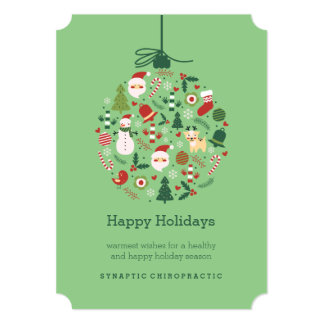 Chiropractic Ornament Flat Chiro Christmas Cards
