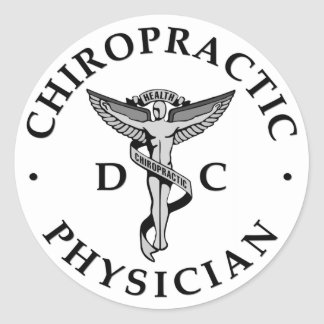 Chiropractic Physician Logo Stickers