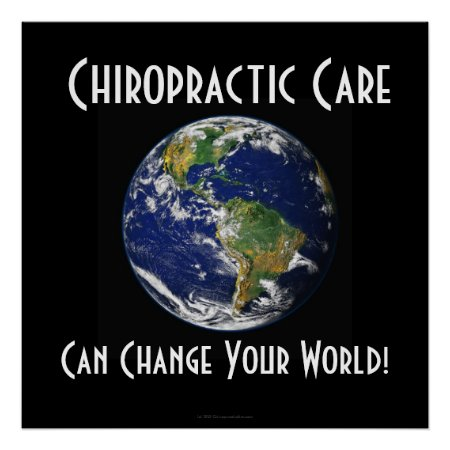 Chiropractic Poster: Can Change Your World BIG BIG Poster