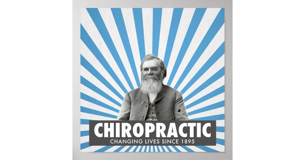 Chiropractic poster d d palmer zazzle for Bureau edf 64