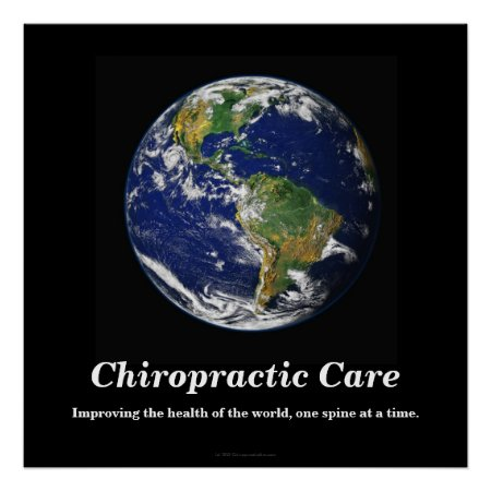 Chiropractic Poster: Improving the World's Health Poster
