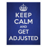 Chiropractic poster - Keep calm and get adjusted