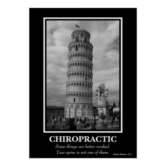Chiropractic Poster - Leaning Tower of Pisa Print