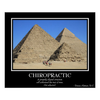Chiropractic Poster - The Great Pyramids of Giza