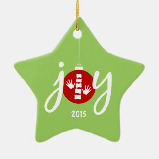 Chiropractic Red Joy Christmas Ornament