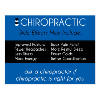 CHIROPRACTIC {Side Effects} Reactivation Recall Postcard
