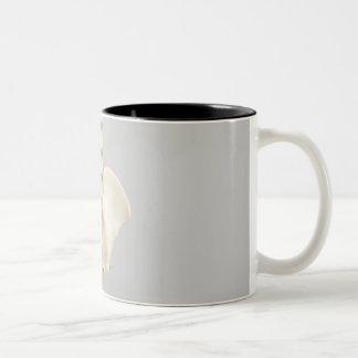 Chiropractic skeleton Two-Tone coffee mug